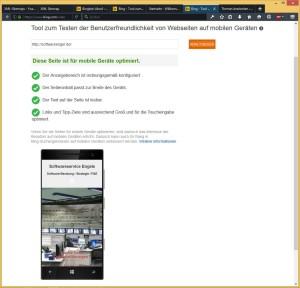 Bing Test für mobile Geräte