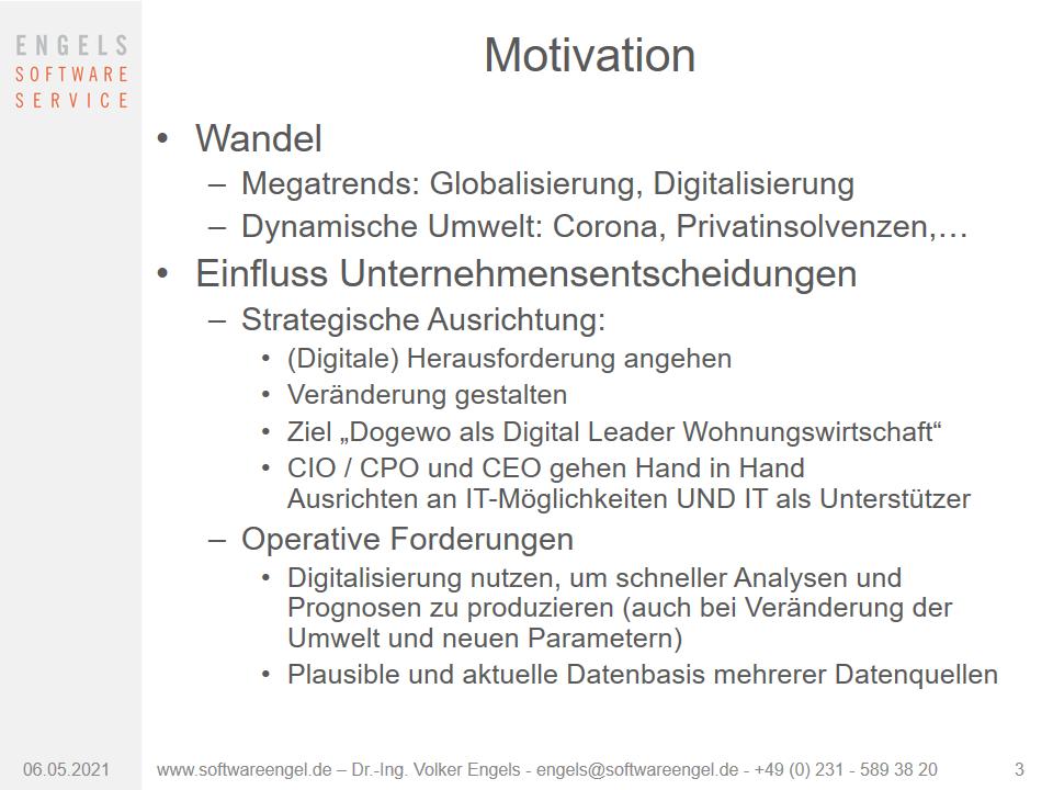 Motivation Wohnungswirtschaft
