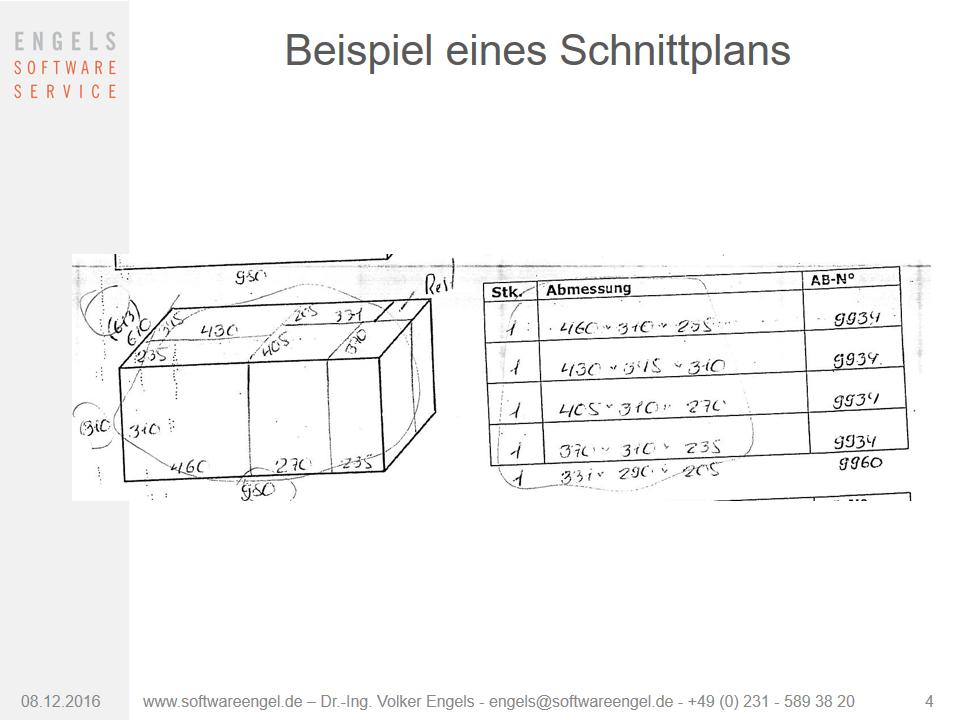Manuelle 3D-Schnittplanung Verschnitt-Optimierung